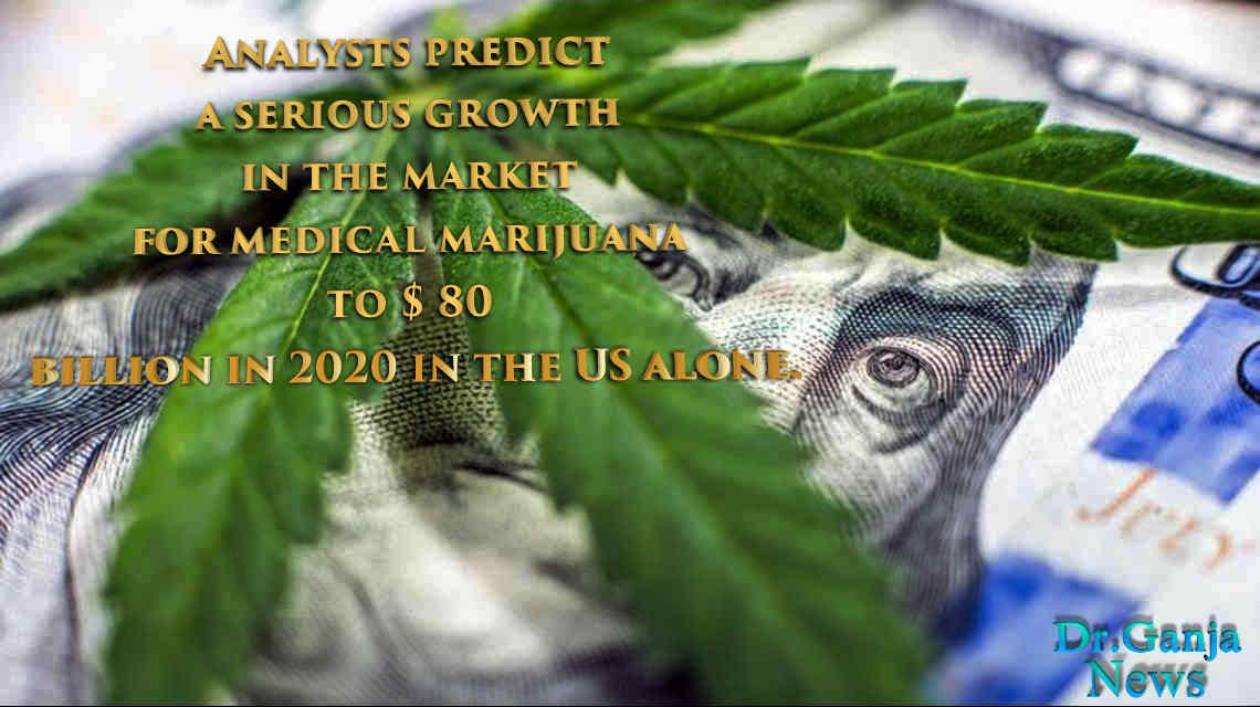 Analysts predict a marijuana to $ 80 billion in 2020 in the US alone. DrGanja News