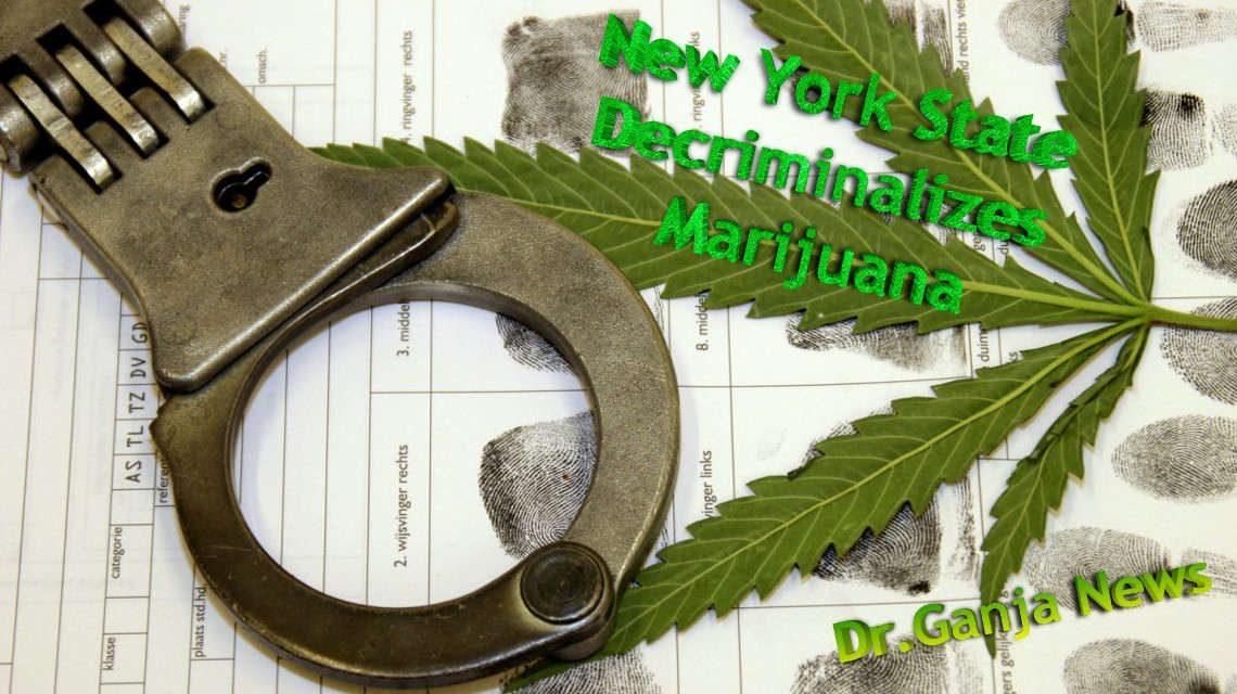 New York State Decriminalizes Marijuana